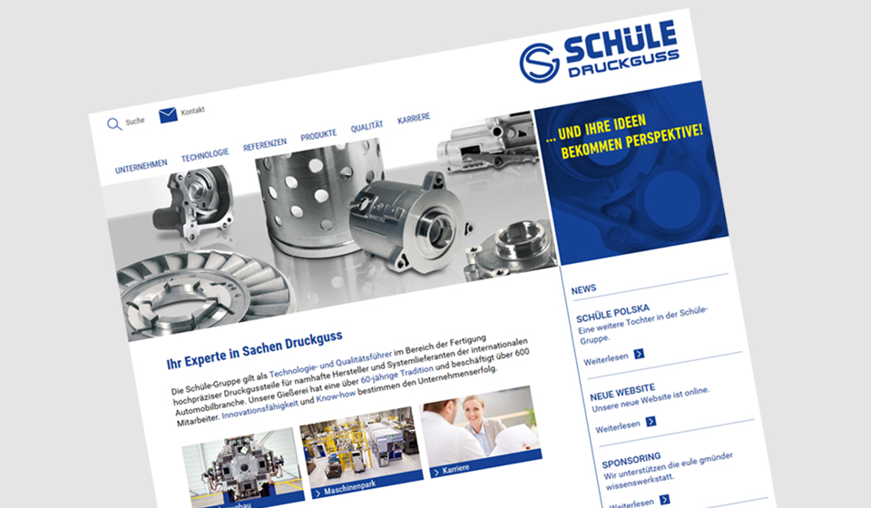 Schüle-Gruppe Website